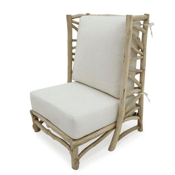 Sigra Natural Teak Wood Accent Chair