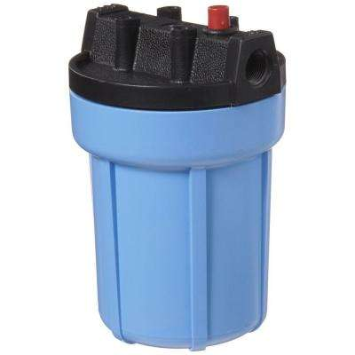 158002 3/8 in. #5 Water Filter Housing with Pressure Release - Blue/Black