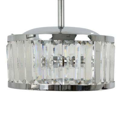 Edgemoor 15 in. Crystal and Chrome Pendant Light