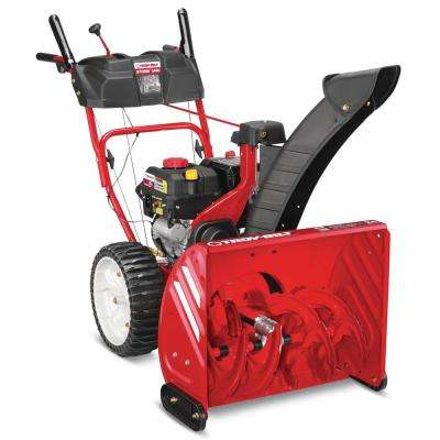 Storm 24 in. 208cc Two-Stage Electric Start Gas Snow Blower with Airless Tires
