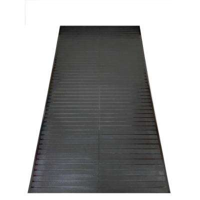 Black 2 ft. 2 in. x 12 ft. Vinyl Multi Grip Carpet-Protector