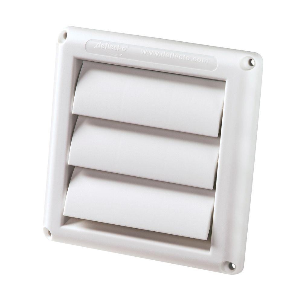 4 in. White Supurr-Vent Dryer Hood
