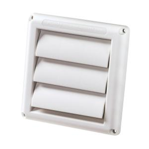 Outdoor Vent Covers >> Deflect O 4 In White Supurr Vent Dryer Hood Hs4w 18 The Home Depot