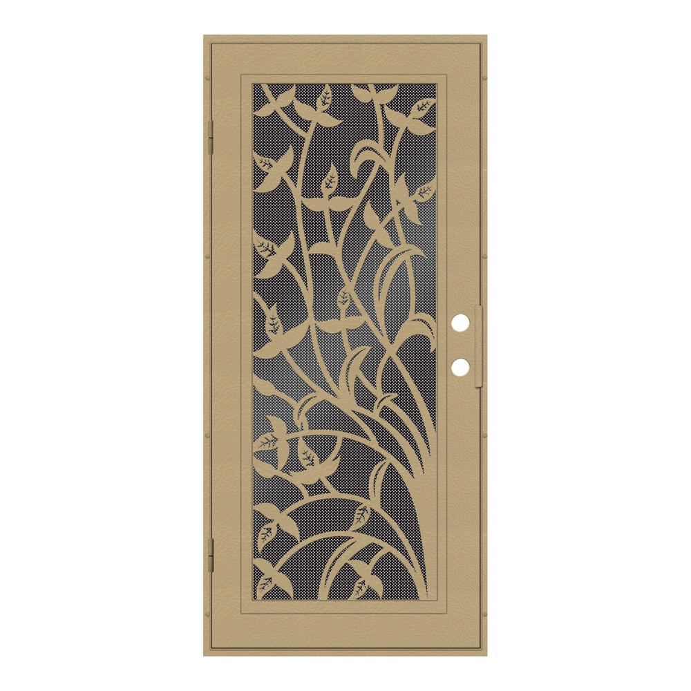 Unique home designs 32 in x 80 in yale desert sand left - Unique home designs security screen doors ...