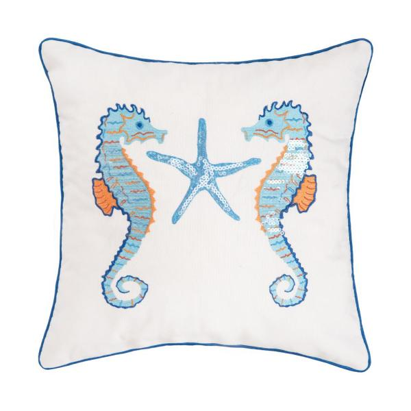 16 in. x 16 in. Galapagos Seahorse Pillow