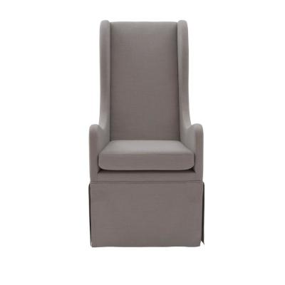 Sienna Gray Skirted Wing Chair