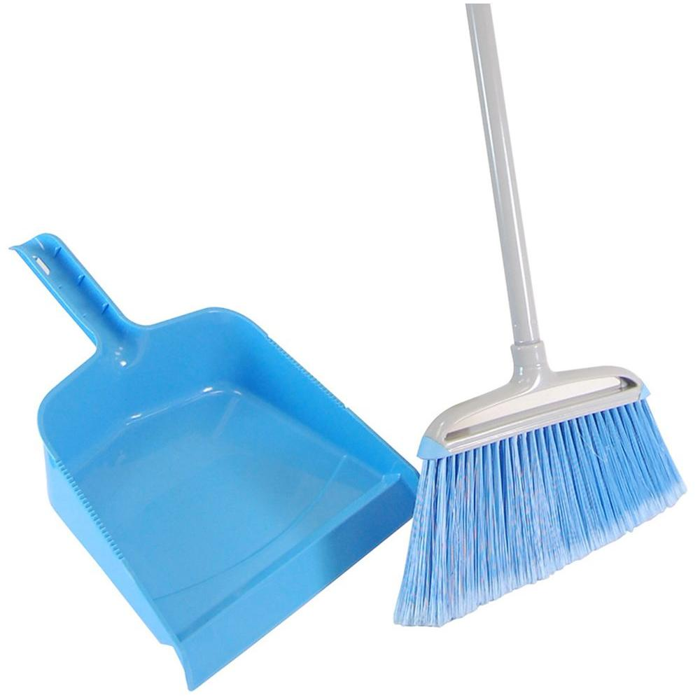 Quickie 12 in. Angle Broom with Dust Pan