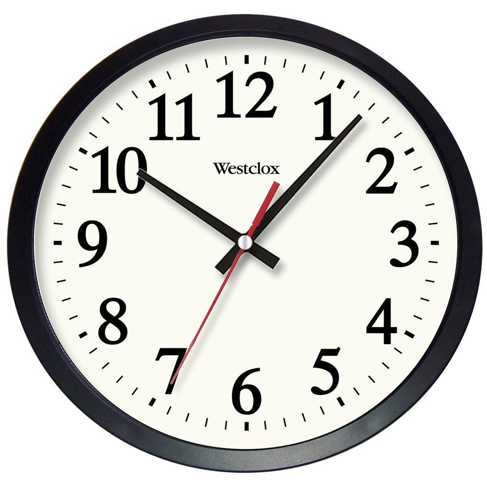 14 In Black Electric Wall Clock