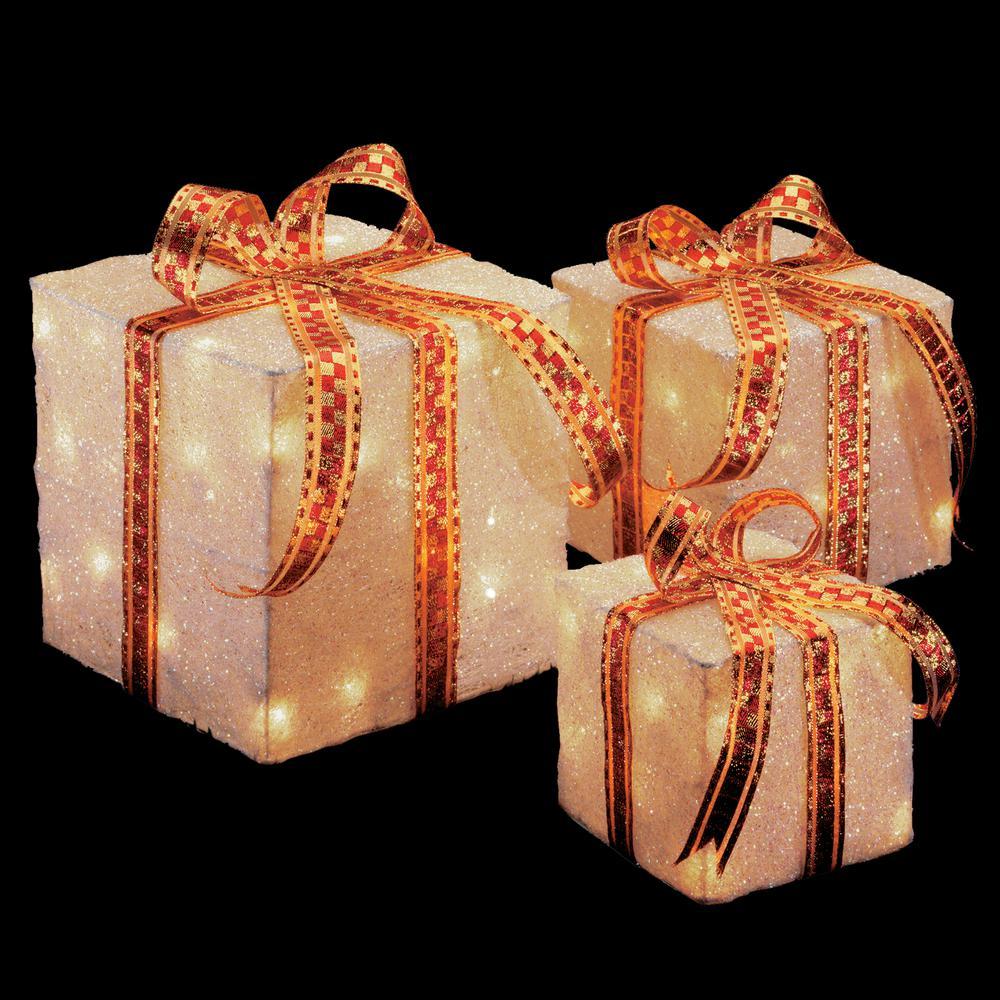 national tree company pre lit white sisal gift box assortment mzgb