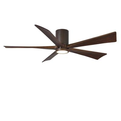 Irene 60 in. LED Indoor/Outdoor Damp Textured Bronze Ceiling Fan with Remote Control, Wall Control