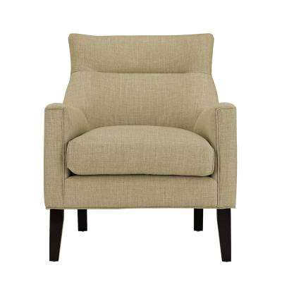 Gia Beige Upholstered Accent Chair