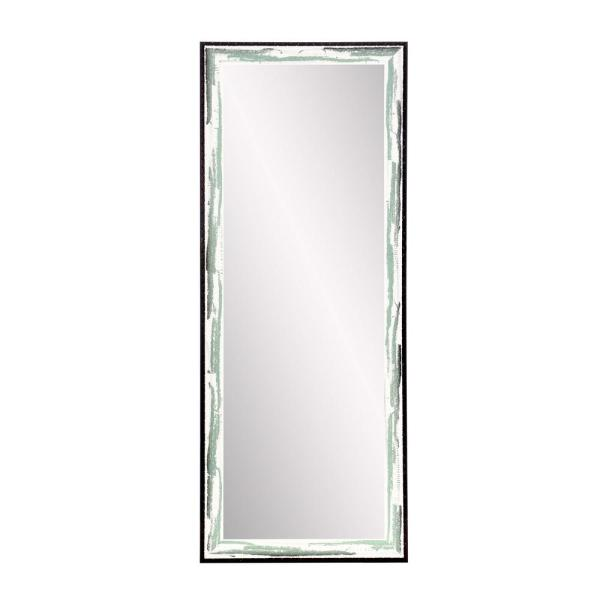 Oversized Green/Brown/White Wood Farmhouse Modern Industrial Mirror (70.5 in. H X 25.5 in. W)