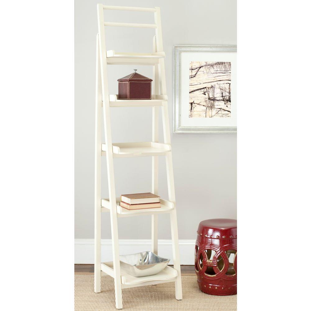 Safavieh Asher Distressed Ivory Ladder Bookcase