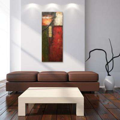 """48 in. x 20 in. """"Tryst"""" Mixed Media Iron Hand Painted Dimensional Wall Art"""