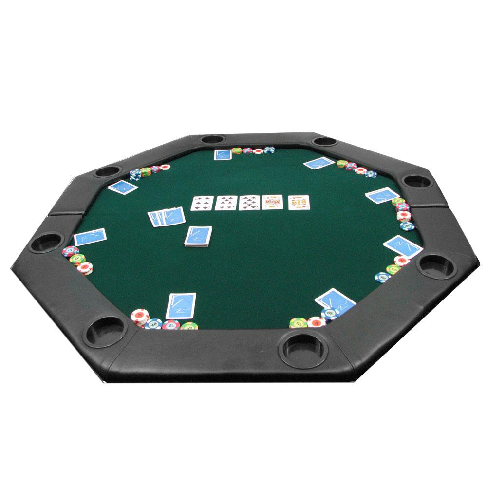 Charmant Trademark Poker Octagon Green 51 In. X 51 In. Padded Poker Tabletop