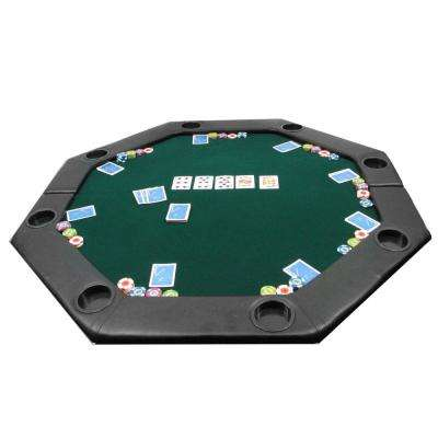 Octagon Green 51 in. x 51 in. Padded Poker Tabletop