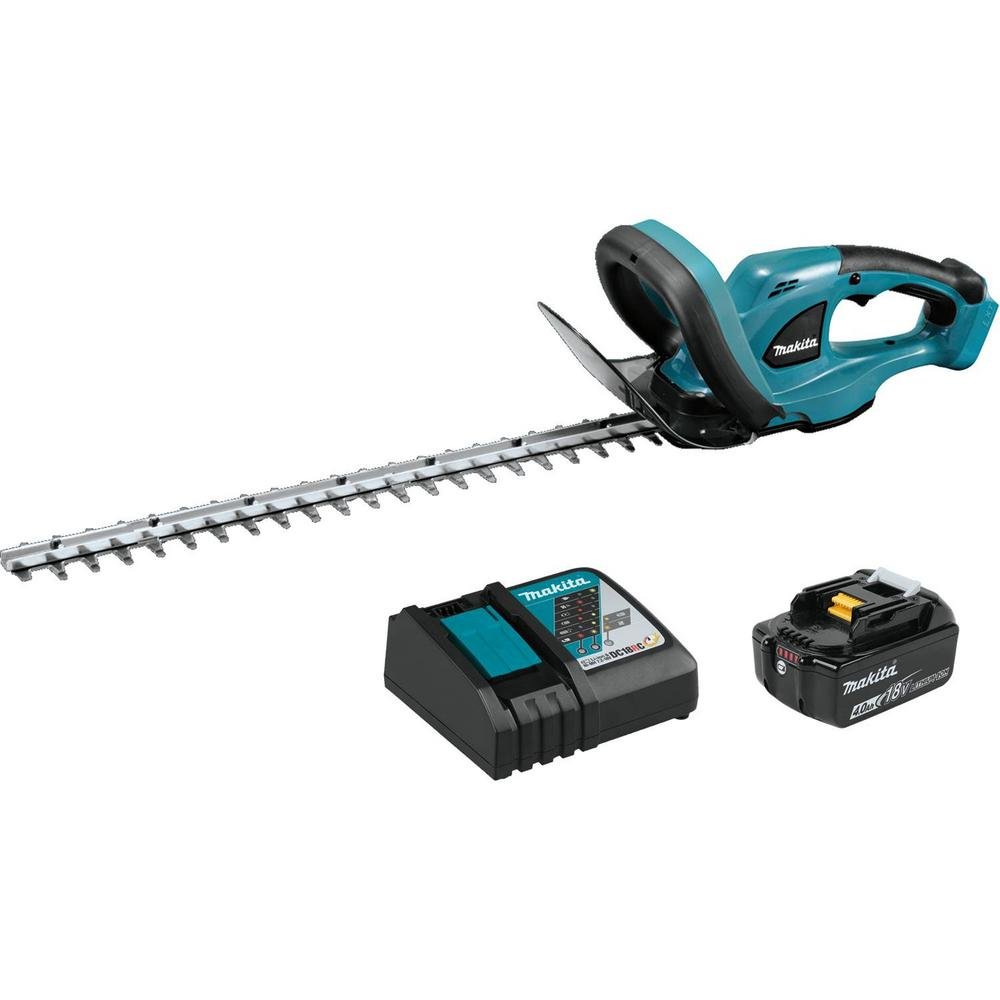 makita 22 in 18 volt lxt lithium ion cordless hedge trimmer kit with 1 battery 4 0ah and. Black Bedroom Furniture Sets. Home Design Ideas