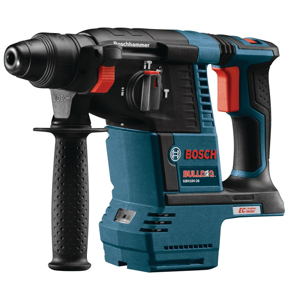 bosch 18 volt lithium ion 1 in sds plus cordless ec brushless bulldog rotary hammer bare tool. Black Bedroom Furniture Sets. Home Design Ideas