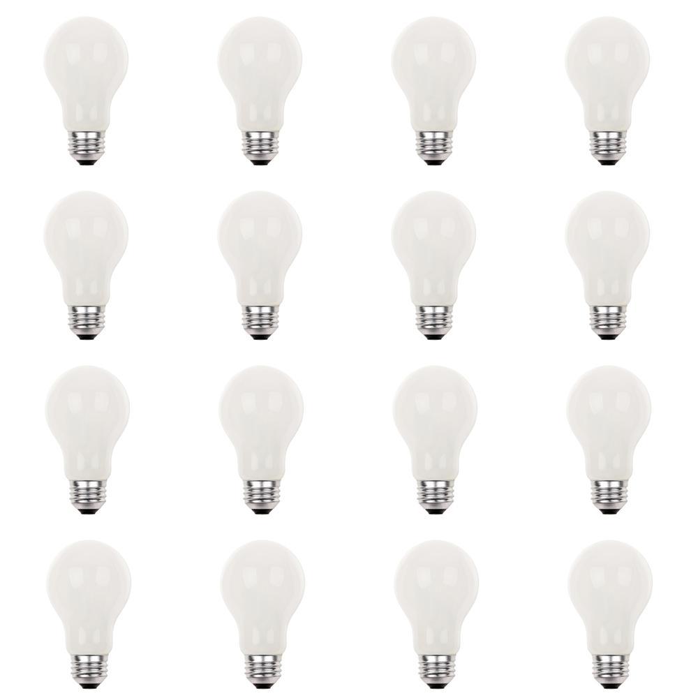 42-Watt Eco-Halogen A19 Soft White Medium Base Light Bulb (12-Pack)