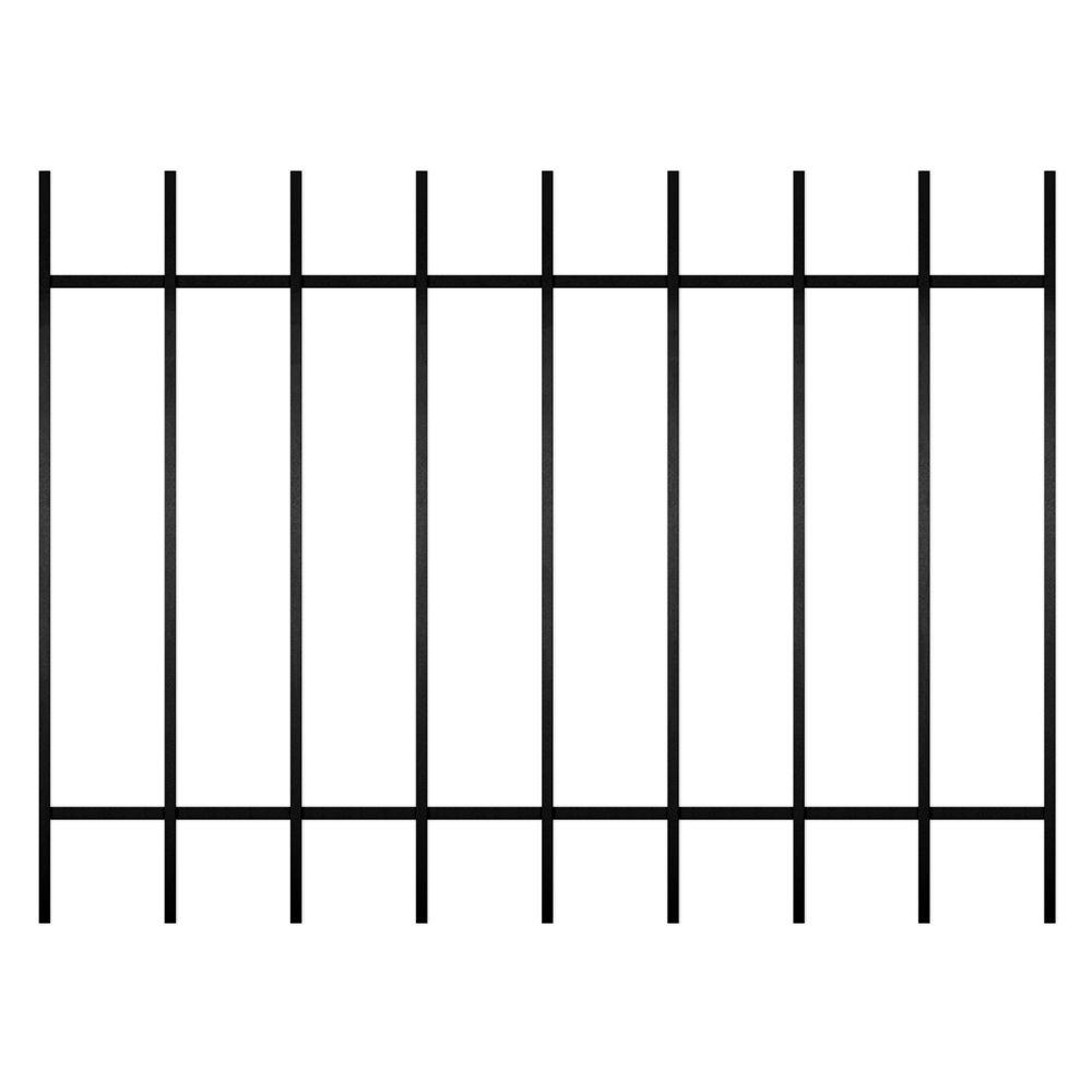 Unique Home Designs Guardian 48 in. x 36 in. Black 9-Bar Window Guard-DISCONTINUED