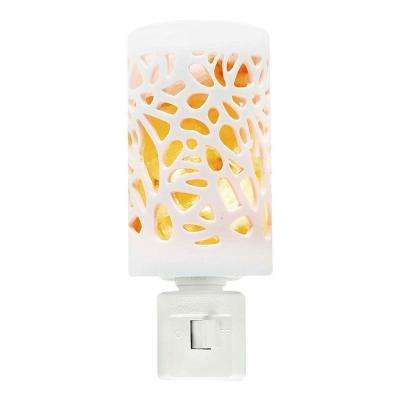 7-Watt Incandescent Floral Ceramic Style Salt Night Light