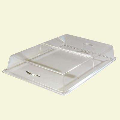18 in. x 26 in. x 4 in. Hinged Pasty Tray Cover in Clear