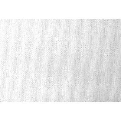 Paintable Hessian Burlap Texture White & Off-White Wallpaper Sample