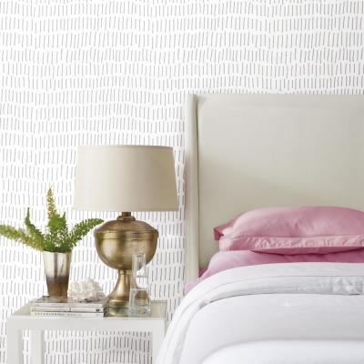 28.18 sq. ft. Tick Mark Peel and Stick Wallpaper