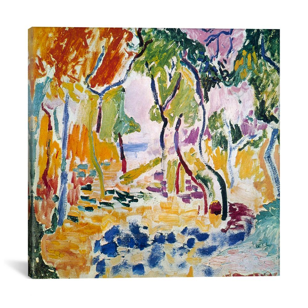 Icanvas landscape near collioure study for le bonheur de vivre 1905 by henri matisse canvas wall art 11131 1pc3 12x12 the home depot
