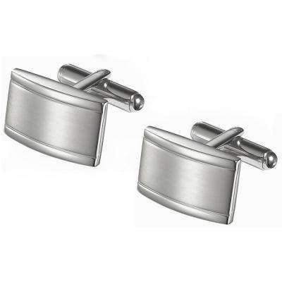 Taurus Brushed Stainless Steel Cufflinks