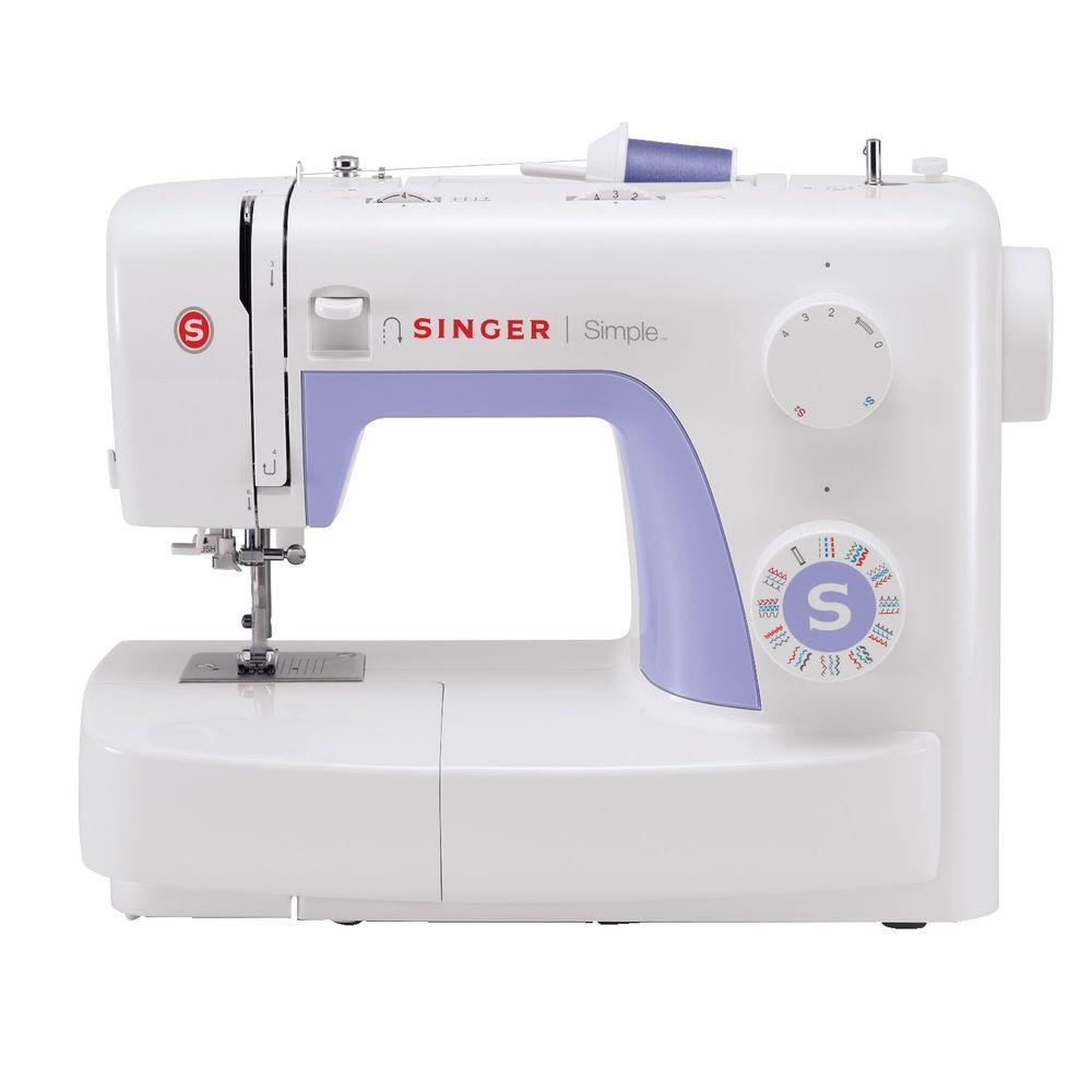 Singer Simple 32-Stitch Sewing Machine, White The SINGER 3232 Simple sewing machine is the perfect machine for beginner sewers. The 32 Built-In Stitches help to ease you into new patterns and it even comes with a stitch guide included in the manual. The easy stitch selection lets you switch from one stitch to the next with ease. As an added bonus, there is an automatic needle threader sewing's biggest timesaver. Color: White.