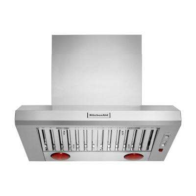 36 in. Commercial Style Wall Mount Canopy Range Hood with LED Light in Stainless Steel