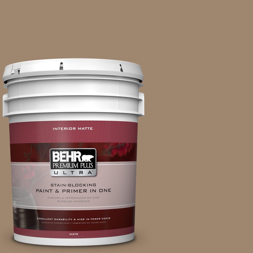5 gal. #700D-5 Toffee Crunch Flat/Matte Interior Paint