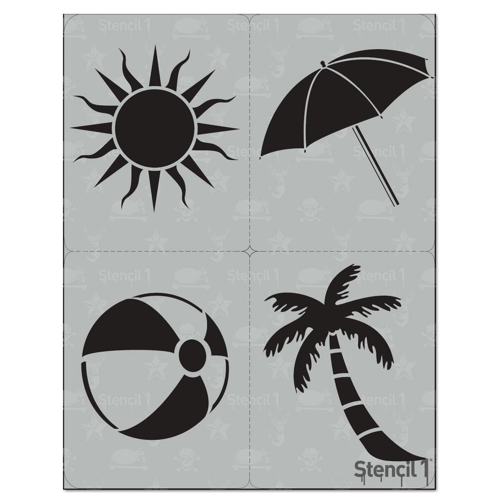 Beach Stencil (4-Pack)