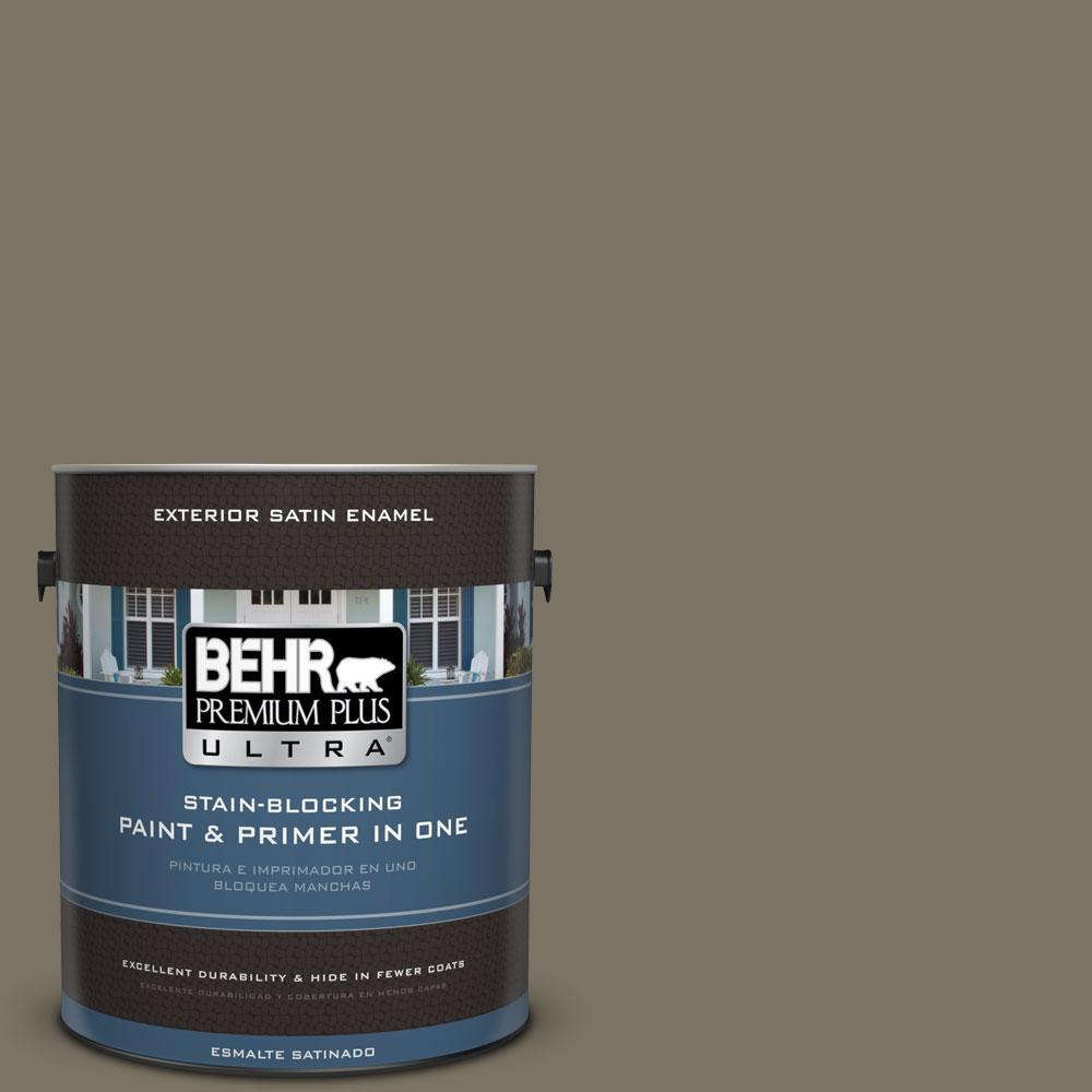 BEHR Premium Plus Ultra 1-gal. #N320-6 Arrowhead Satin Enamel Exterior Paint