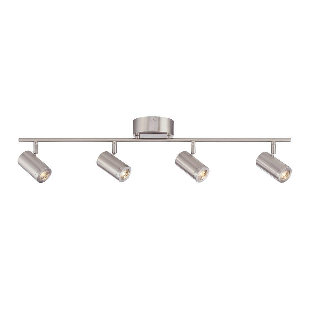 Envirolite 3 Ft Brushed Nickel Led Track Lighting Kit With 4 Led