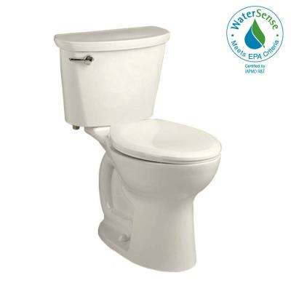 Cadet Pro Compact Tall Height 2-piece 1.28 GPF Single Flush Elongated Toilet in Linen