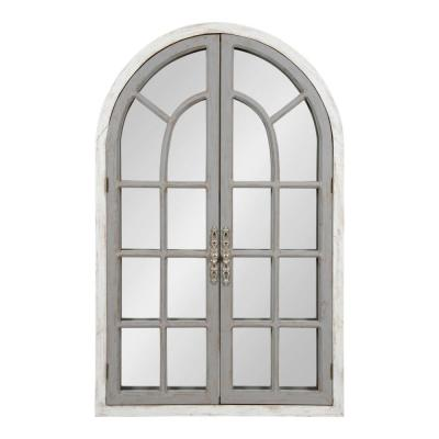 Large Arch White Classic Mirror (44 in. H x 28 in. W)