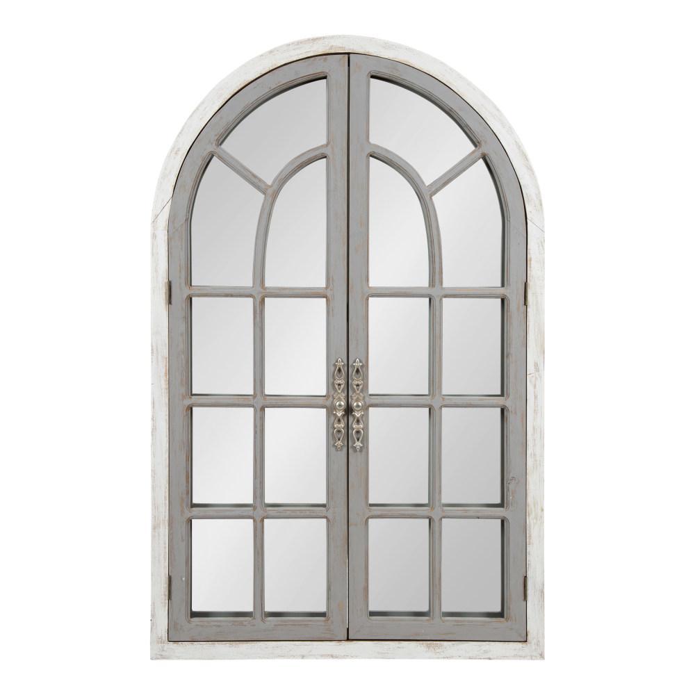 Boldmere Arch White/Gray Wall Mirror