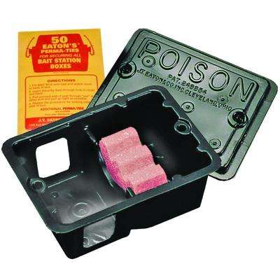Mouse Sized Plastic Bait Station with Solid Lid (24-Pack)