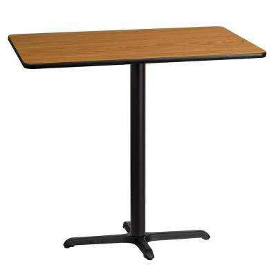 30 in. x 45 in. Rectangular Natural Laminate Table Top with 22 in. x 30 in. Bar Height Table Base