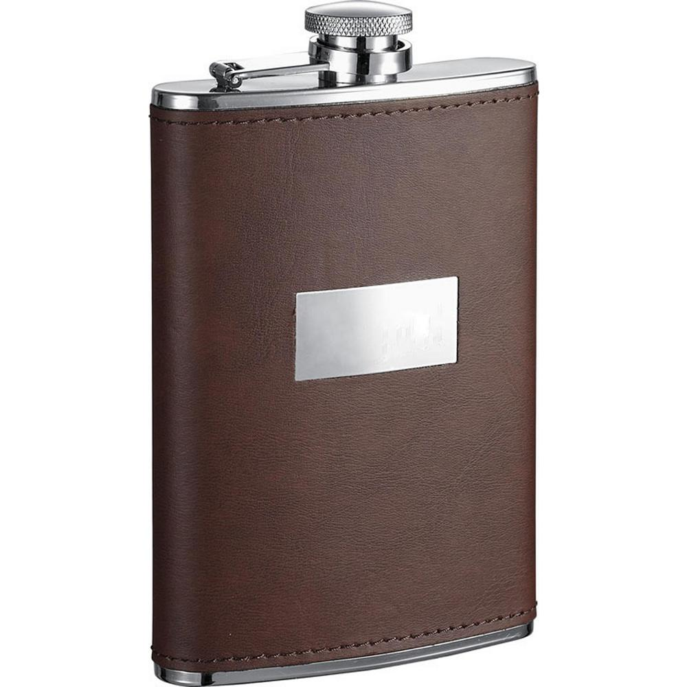 Alcide Brown Leather Liquor Flask 8 oz.