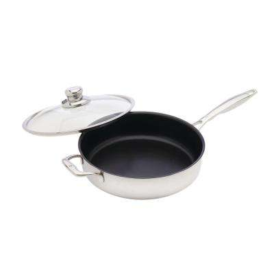 Clad 4.2 Qt. Non-Stick Saute Pan with Lid