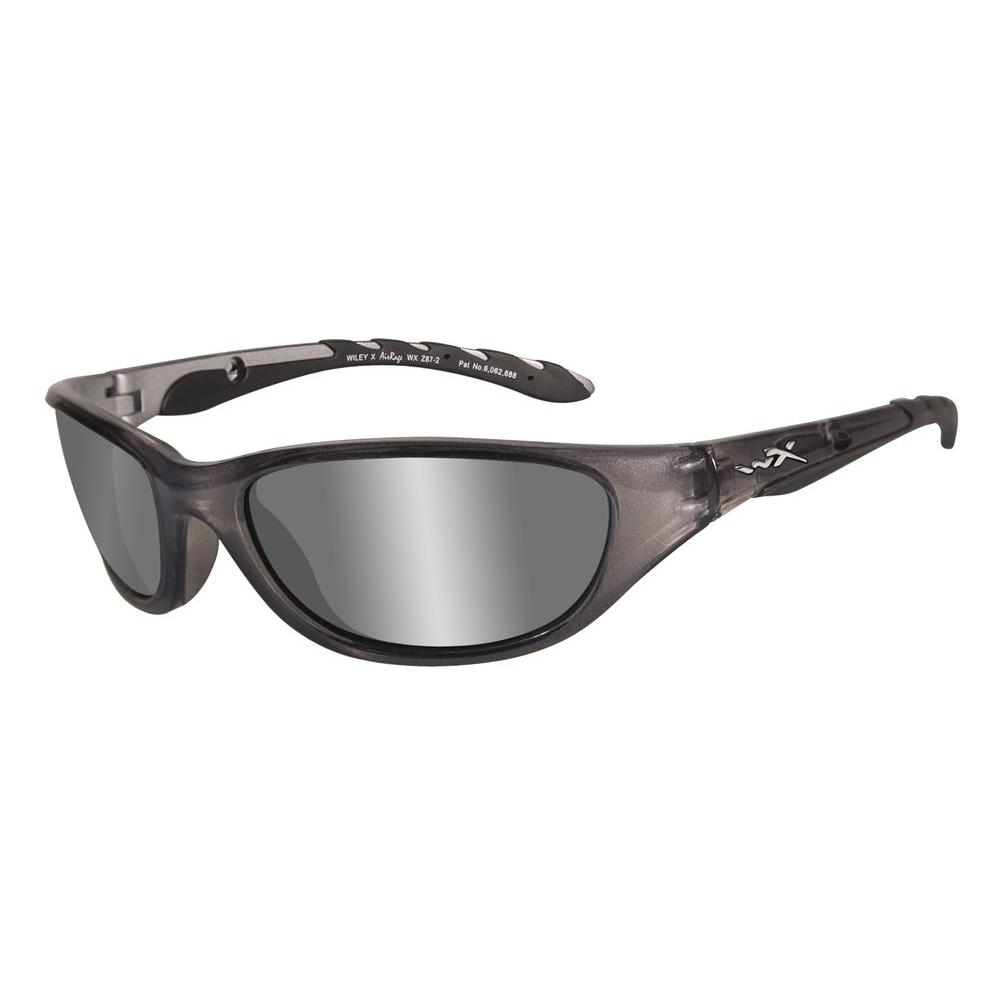 Wiley X 697 AirRage Polarized Sunglasses with Silver Lens and Crystal Metallic Frame