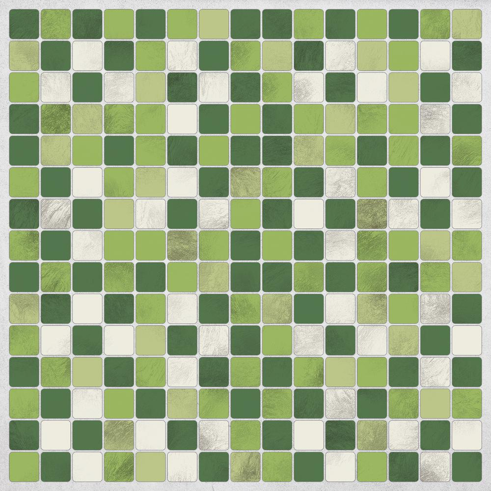 Home Decor Line Green Peel And Stick Decal Tiles CR 31316