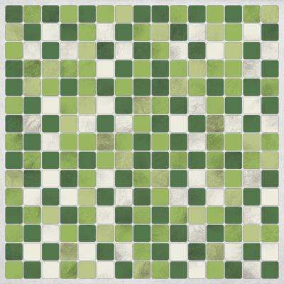 Green Peel and Stick Decal Tiles