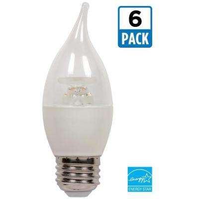 60W Equivalent Warm White CA13 Dimmable LED Light Bulb (6-Pack)