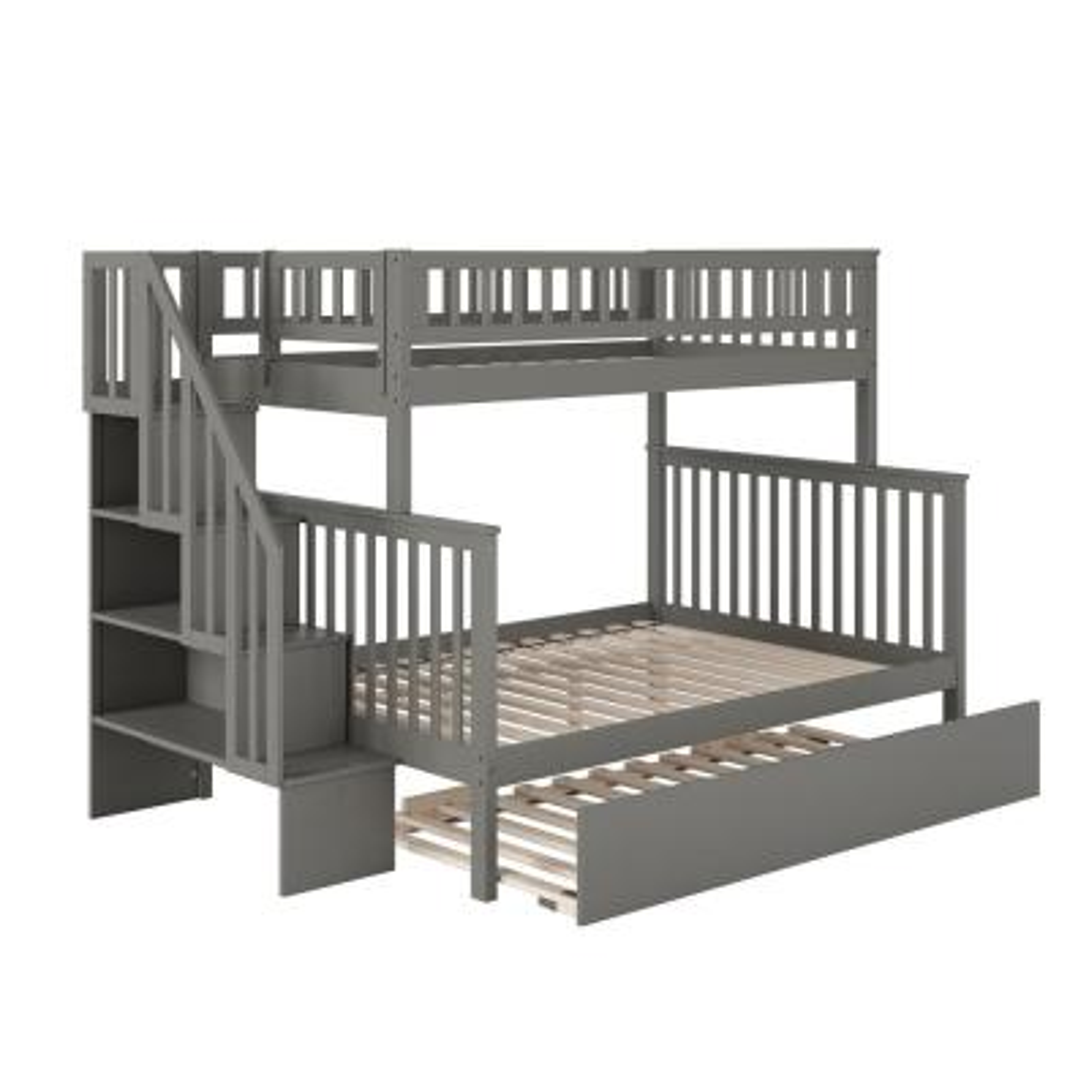 Full Bunk Loft Beds Kids Bedroom Furniture The Home Depot