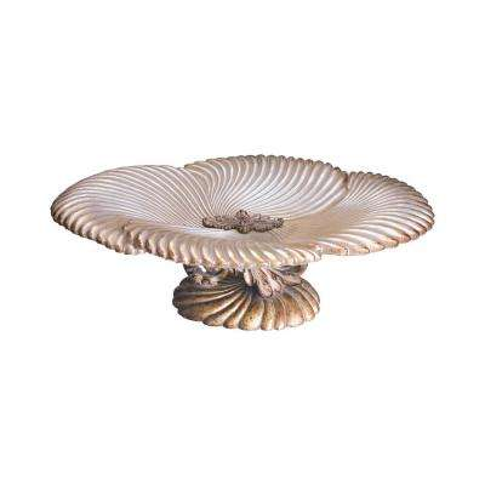 Antique Ivory Seashell Polyresin Decorative Bowl