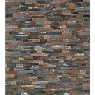 DecoWall Rawhide 3/8 in. T x 12 in. W x 21.5 in. L Solid Peel & Stick Hardwood Flooring Wall Planks (5.4 sq. ft. / case)